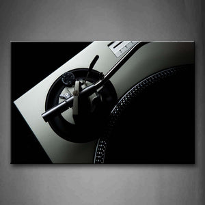 Black And White Black Regulator Of Silvery Studio Wall Art Painting Pictures Print On Canvas Music The Picture For Home Modern Decoration