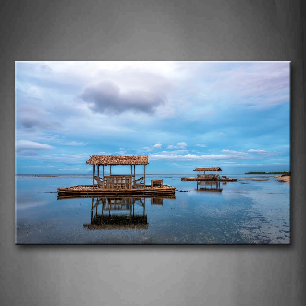 Bamboo Floating Over Quiet Water Wall Art Painting The Picture Print On Canvas City Pictures For Home Decor Decoration Gift