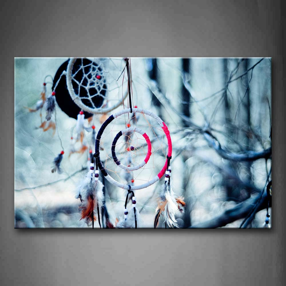 Beautiful Pendant Hangs On Bare Tree Wall Art Painting Pictures Print On Canvas Art The Picture For Home Modern Decoration