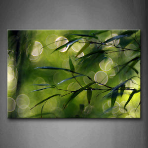 Green Leaves Close Up  Wall Art Painting Pictures Print On Canvas Botanical The Picture For Home Modern Decoration
