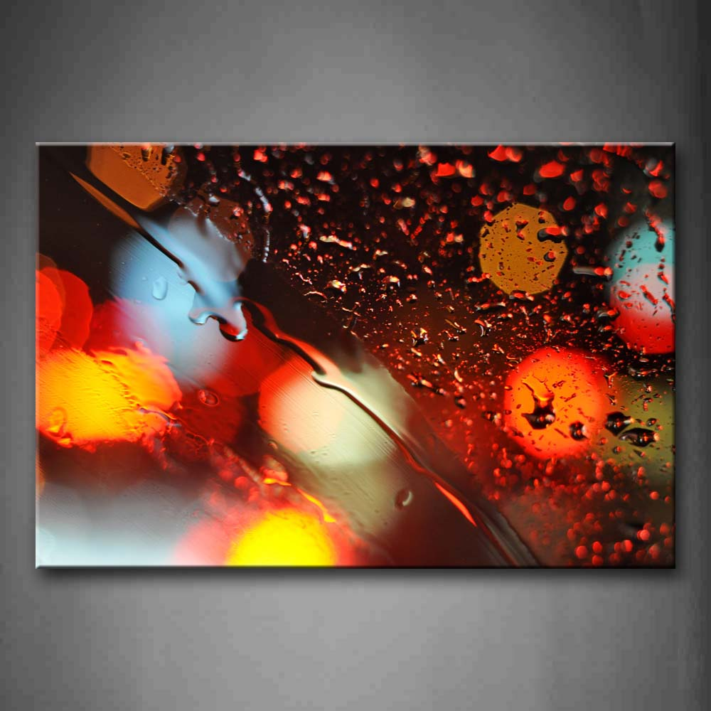 Abstract With Rain On Glass  Wall Art Painting The Picture Print On Canvas Art Pictures For Home Decor Decoration Gift
