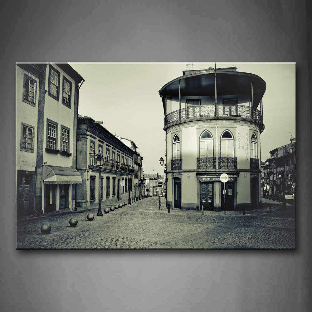 Black And White Picture With House  Wall Art Painting Pictures Print On Canvas City The Picture For Home Modern Decoration