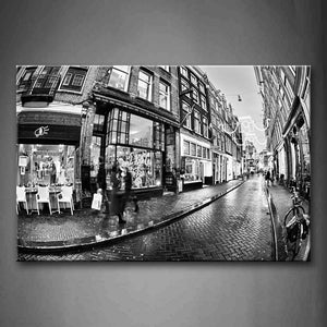 Black And White Black&White Picture Of Street Wall Art Painting The Picture Print On Canvas City Pictures For Home Decor Decoration Gift