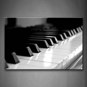 Black And White Piano Keyboard  Wall Art Painting The Picture Print On Canvas Art Pictures For Home Decor Decoration Gift