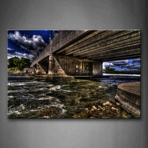 Big Bridge Across Two Shore Of River Wall Art Painting The Picture Print On Canvas Landscape Pictures For Home Decor Decoration Gift