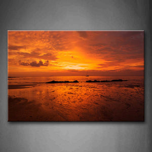 Sunrise At Sea Serface  Wall Art Painting The Picture Print On Canvas Landscape Pictures For Home Decor Decoration Gift
