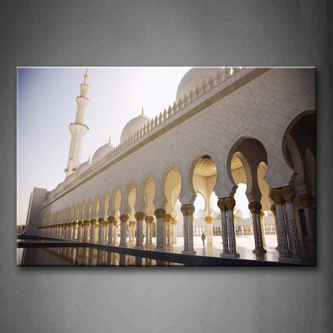 White Sheikh Zayed Grand Mosque  Wall Art Painting Pictures Print On Canvas Religion The Picture For Home Modern Decoration