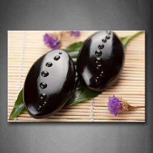 Zen And Purple Flowers  Wall Art Painting Pictures Print On Canvas Religion The Picture For Home Modern Decoration