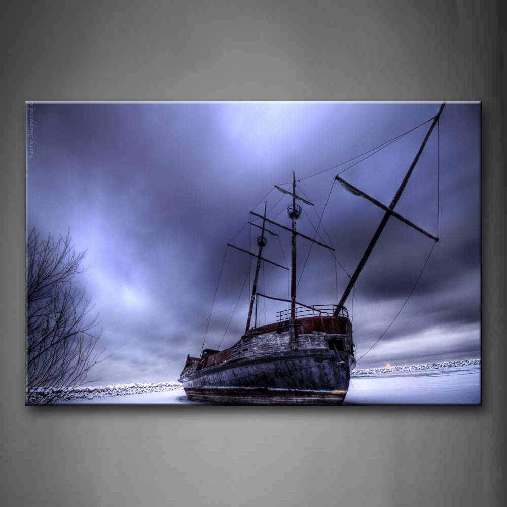 Big Ship And Cloudy Sky Wall Art Painting The Picture Print On Canvas Car Pictures For Home Decor Decoration Gift