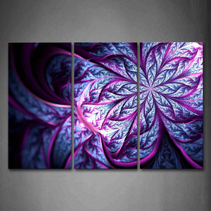 Abstract Like Purple And Blue Flower Wall Art Painting Pictures Print On Canvas Abstract The Picture For Home Modern Decoration