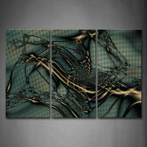 Abstract Reticular Black Blue Wall Art Painting Pictures Print On Canvas Abstract The Picture For Home Modern Decoration