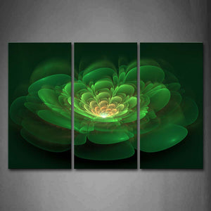 Abstract Like Green Flower Wall Art Painting The Picture Print On Canvas Abstract Pictures For Home Decor Decoration Gift