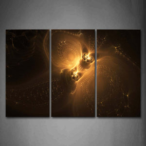 Abstract Yellow Dark Wall Art Painting Pictures Print On Canvas Abstract The Picture For Home Modern Decoration