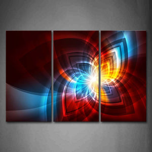 Abstract Like Flower Colorful Wall Art Painting The Picture Print On Canvas Abstract Pictures For Home Decor Decoration Gift