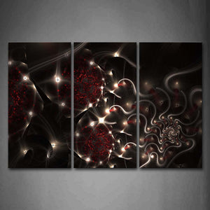 Artistic White Black Red Wall Art Painting Pictures Print On Canvas Abstract The Picture For Home Modern Decoration