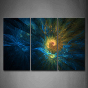 Abstract Blue Yellow Like Smoke Wall Art Painting The Picture Print On Canvas Abstract Pictures For Home Decor Decoration Gift