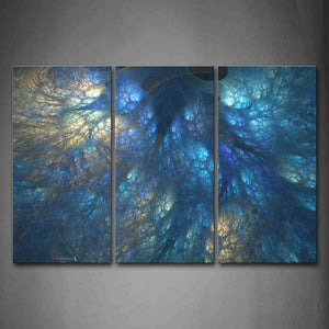 Abstract Blue Like Ocean Meshy Wall Art Painting Pictures Print On Canvas Abstract The Picture For Home Modern Decoration