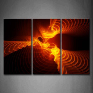 Abstract Orange Ripple Wall Art Painting The Picture Print On Canvas Abstract Pictures For Home Decor Decoration Gift