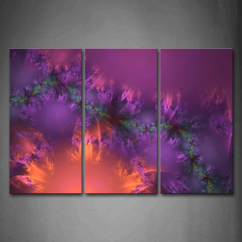 Abstract Purple Blue Green Pink Wall Art Painting The Picture Print On Canvas Abstract Pictures For Home Decor Decoration Gift