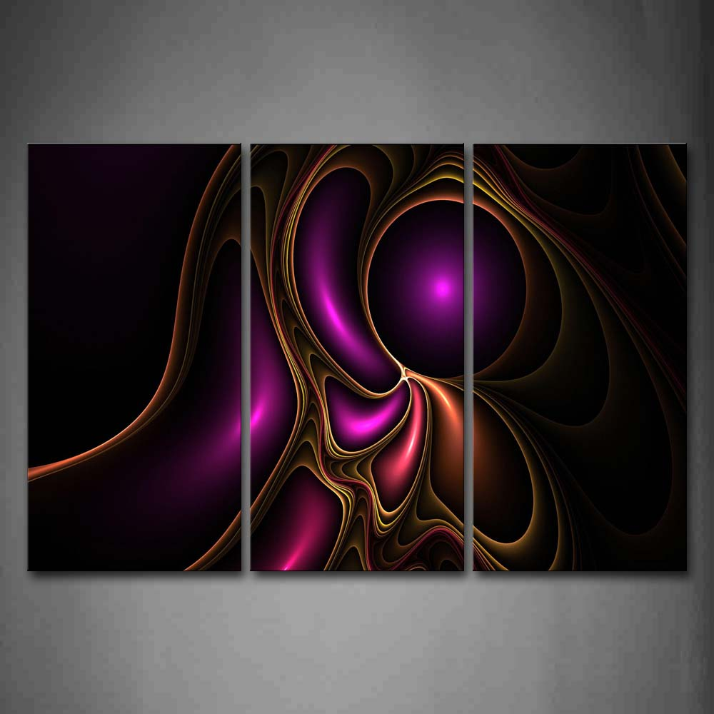 Artistic Purple Yellow Wall Art Painting Pictures Print On Canvas Abstract The Picture For Home Modern Decoration