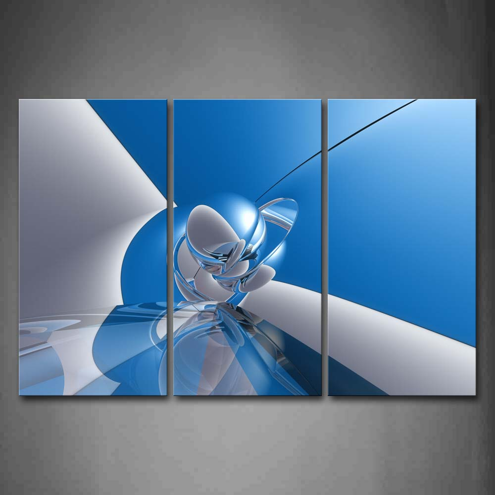 Artistic Blue Gray Ball  Wall Art Painting The Picture Print On Canvas Abstract Pictures For Home Decor Decoration Gift