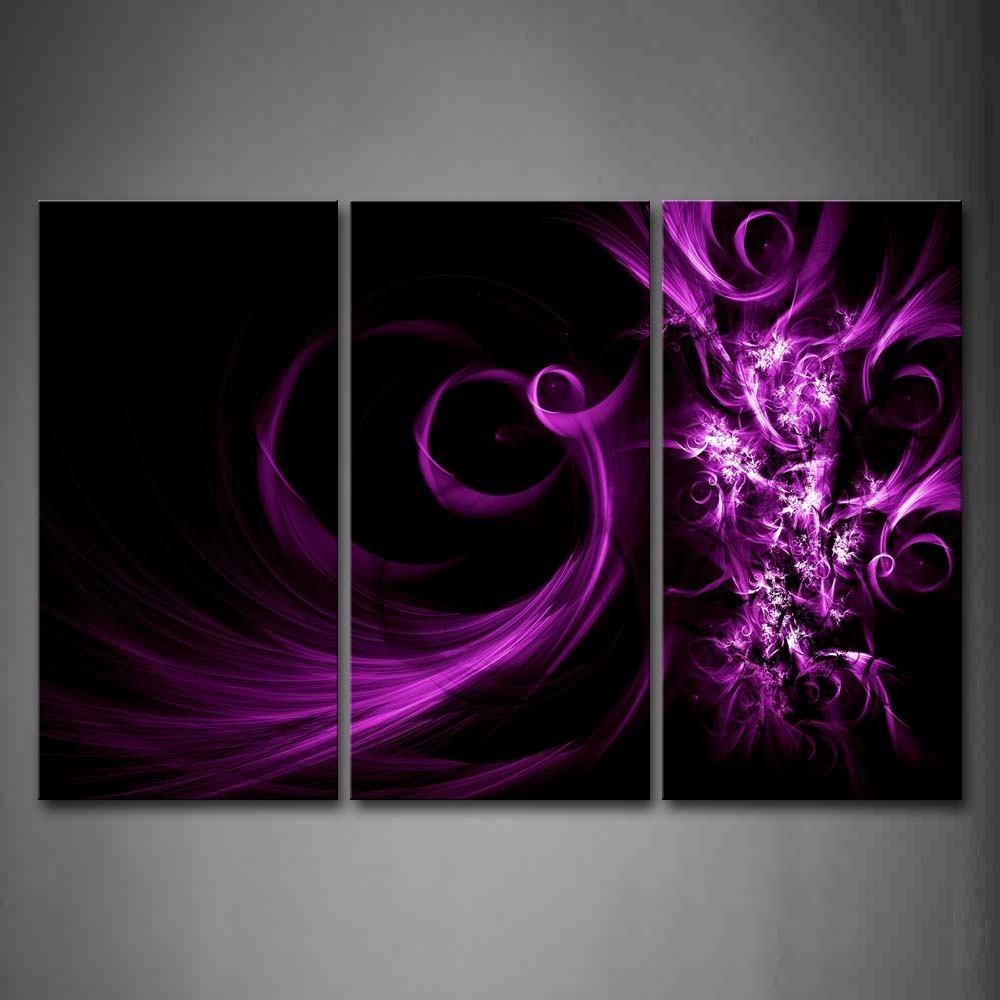 Abstract Purple Swirl Pqttern Wall Art Painting The Picture Print On Canvas Abstract Pictures For Home Decor Decoration Gift