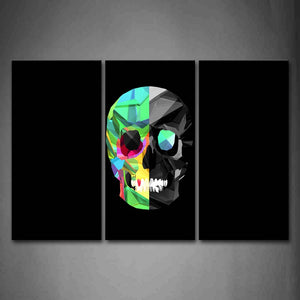 Black Background Like A Colorful People Head Wall Art Painting Pictures Print On Canvas Abstract The Picture For Home Modern Decoration