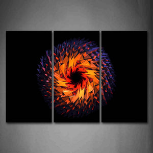 Artistic Black Background Yellow Shape Wall Art Painting The Picture Print On Canvas Abstract Pictures For Home Decor Decoration Gift