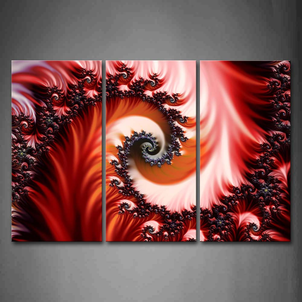 Artistic Red Pink Pattern Wall Art Painting Pictures Print On Canvas Abstract The Picture For Home Modern Decoration