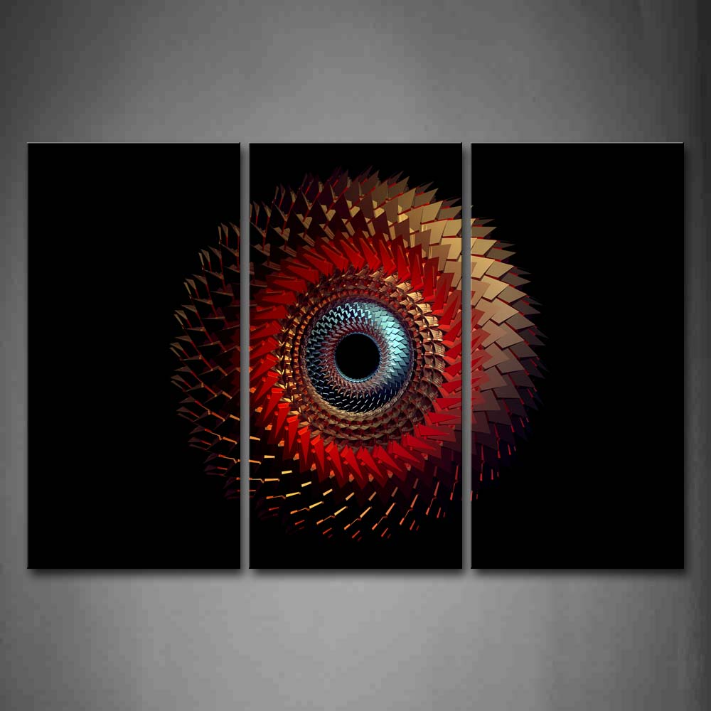 Black Background Red Blue Gray Like Eddy  Wall Art Painting Pictures Print On Canvas Abstract The Picture For Home Modern Decoration