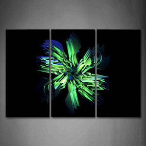 Black Background  Green Blue Shape Wall Art Painting The Picture Print On Canvas Abstract Pictures For Home Decor Decoration Gift