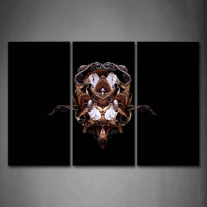 Black Background Like A Animal Face Wall Art Painting Pictures Print On Canvas Abstract The Picture For Home Modern Decoration