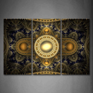 Abstract Blue Yellow Pattern Wall Art Painting Pictures Print On Canvas Abstract The Picture For Home Modern Decoration