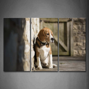 Beagle Sit On Land  Wall Art Painting The Picture Print On Canvas Animal Pictures For Home Decor Decoration Gift