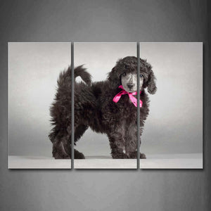 Black Dog In Gray Backgraound Wall Art Painting The Picture Print On Canvas Animal Pictures For Home Decor Decoration Gift