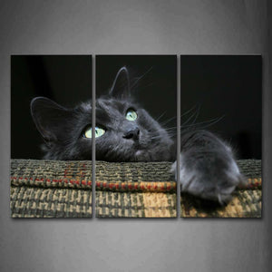 Black Cat Climb On Sofa Wall Art Painting The Picture Print On Canvas Animal Pictures For Home Decor Decoration Gift