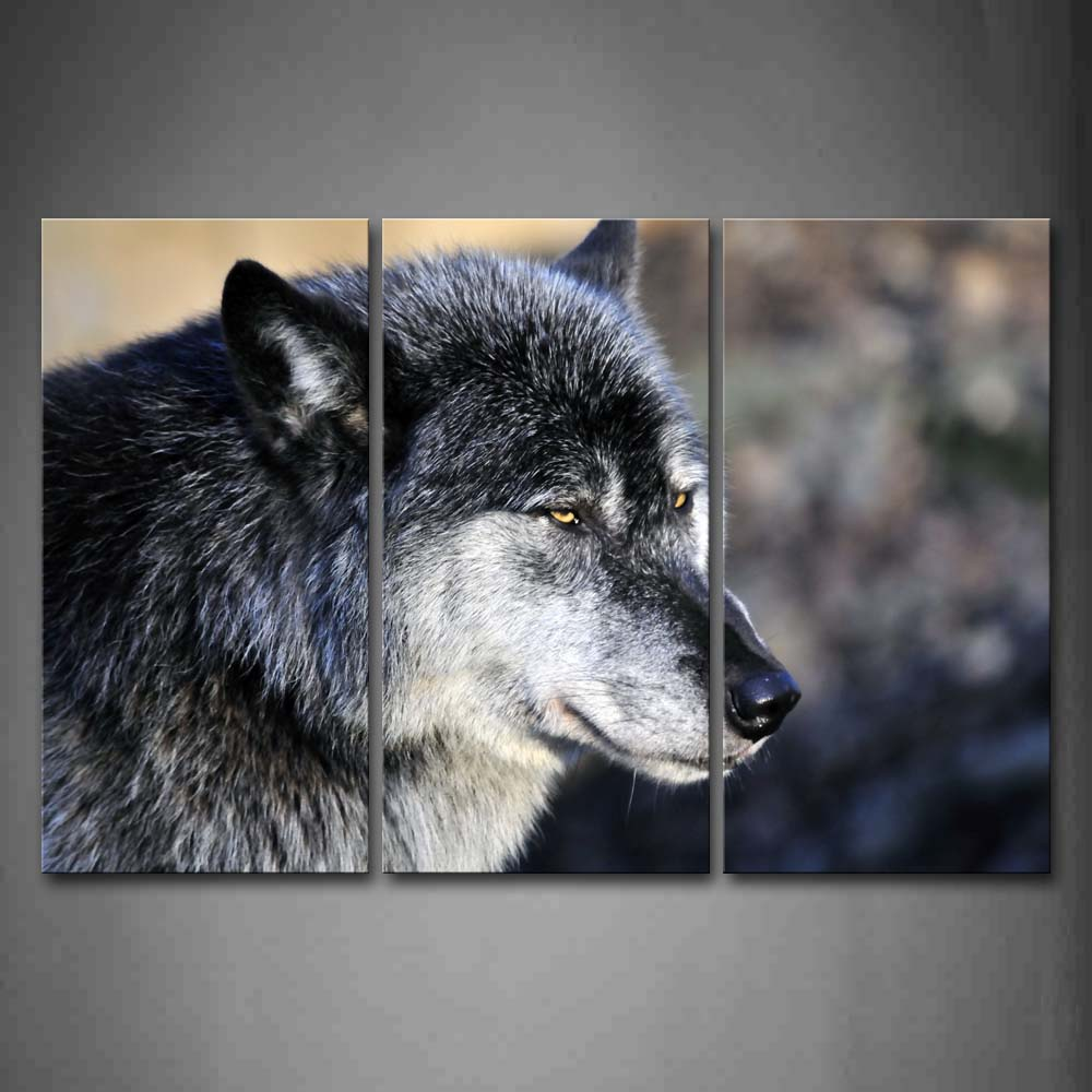 Black And White Gray Wolf Head Portrait Wall Art Painting Pictures Print On Canvas Animal The Picture For Home Modern Decoration
