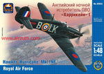 ARK Model 1/48 Hawker Hurricane Mk.1NF Fighter Royal Air Force WW2 ARK Models 48023 SALE!!!