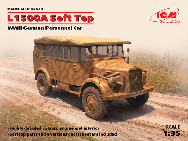 ICM #35529 1/35 L1500A Soft Top, WWII German Personnel Car
