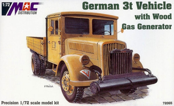 MAC Distribution 1/72 WW2 German 3t Vehicle with Wood Gas Generation MAC 72065