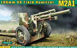 ACE Model #72527 1/72 US 105mm Howitzer M2A1 w/M2A2 Gun Carriage