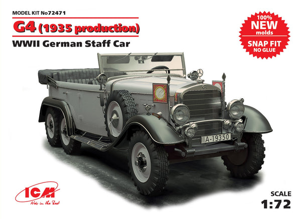 WW2 German Staff Car G4 1935 production 1/72 ICM 72471 SALE!!!