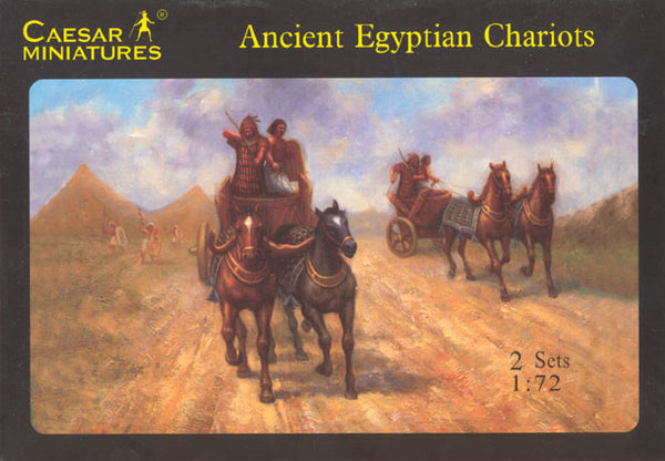 Caesar Miniatures 1/72 Ancient Egyptian Chariots 2 Sets Plastic Figures Caesar Miniatures 024