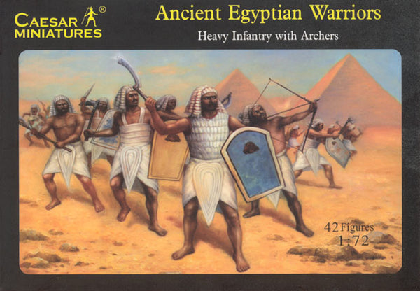 Caesar Miniatures 1/72 Ancient Egyptian Warriors Heavy Infantry with Archers Caesar Miniatures 047