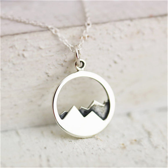Mountain Top Pendant Necklace
