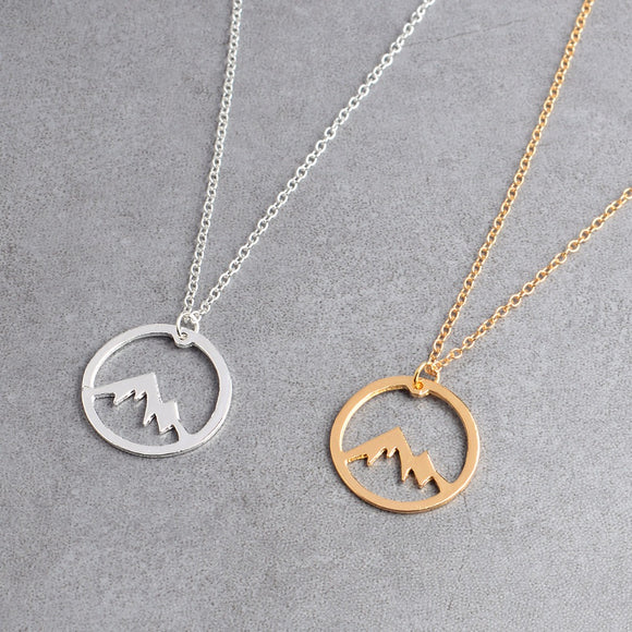 Snow Mountain Hollow Necklace