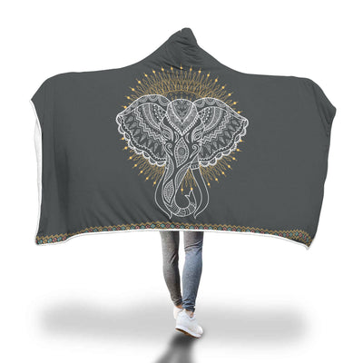 Elephant Hena Hooded Blanket
