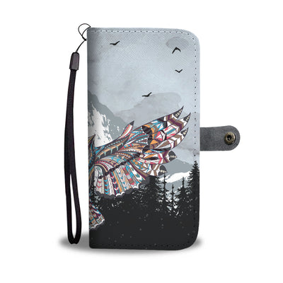 Tribal Owl Wallet Phone Case