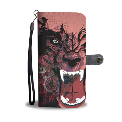 Fierce Blood Wolf Wallet Case