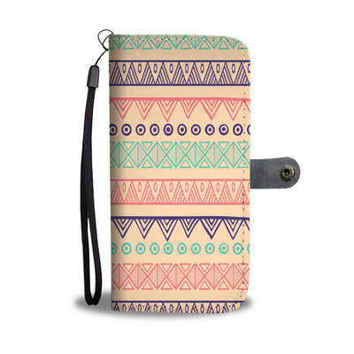 Tribal Pattern Wallet Phone Case